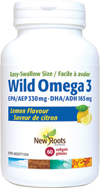 Wild Omega 3 EPA 330 mg · DHA 165 mg Easy-Swallow Size, Lemon Flavour